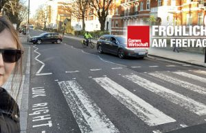 Die Abbey Road in London Ende Januar 2020