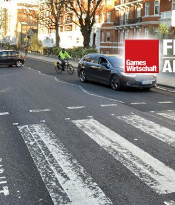 Die Abbey Road in London Ende Januar 2020