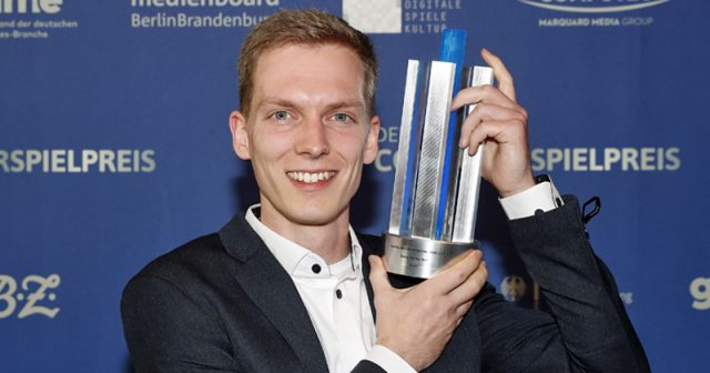Philipp Stollenmayer von Kamibox (hier beim Computerspielpreis 2019) - Foto: Franziska Krug / Getty Images für Quinke Networks