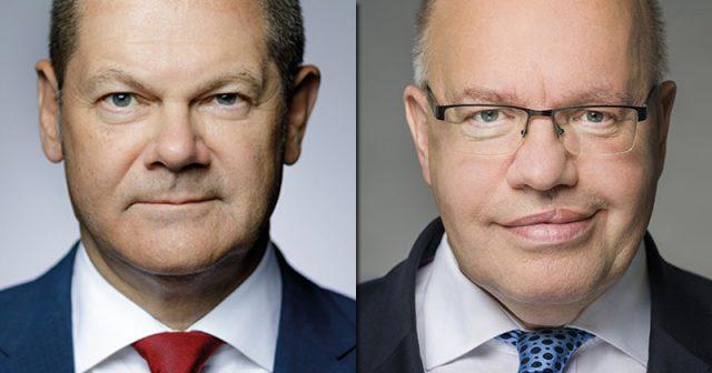 Finanzminister Olaf Scholz (SPD) und Wirtschaftsminister Peter Altmaier (CDU) - Fotos: BMF / Phototek / Thomas Koehler / BPA/Steffen Kugler