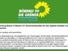 Auszug aus dem Games-Antrag der Grünen-Fraktion vom 29. Mai 2020