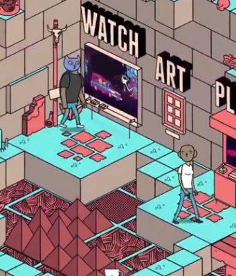Für Indie Arena Booth Online entstehen interaktive Messestände im Comic-Design (Abbildung: Super Crowd Entertainment)