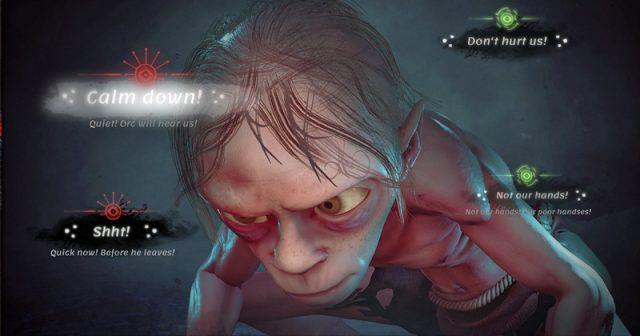 Daedalics Gollum führt Selbstgespräche - der Spieler muss