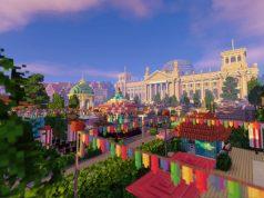 """Schauplatz des virtuellen Game-Sommerfest 2020: die """"Minecraft""""-Version des Reichstagsgebäudes (Abbildung: Game-Verband)"""
