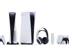 Von links nach rechts: DualSense-Controller, PlayStation 5, Headset, Fernbedienung, Ladestation, Kamera (Abbildung: Sony Interactive)