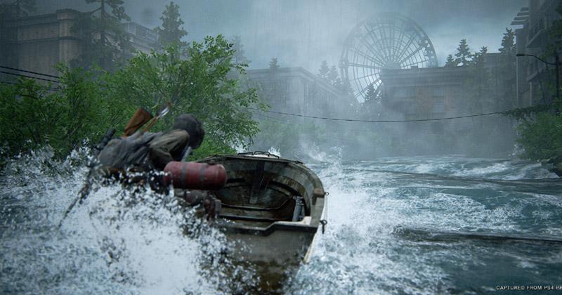"""Gischt, Wellengang, Bugwellen: """"The Last of Us Part 2"""" ist optisch eine Wucht (Abbildung: Sony Interactive)"""