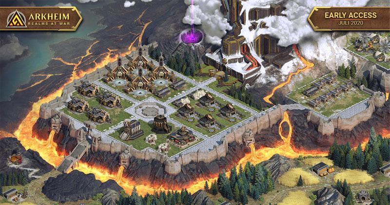 """Genre-typisch wird die """"Arkheim""""-Siedlung nach und nach erweitert und aufgerüstet (Abbildung: Travian Games)"""
