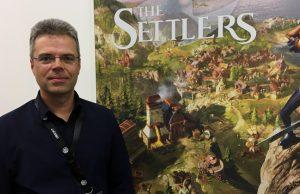 """""""Siedler""""-Erfinder Volker Wertich ist auch diesmal Teil des Entwickler-Teams (Foto: GamesWirtschaft)"""