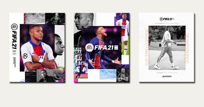 FIFA 21 vorbestellen: Das Fußballspiel ist als Standard, Ultimate und Champion Edition erhältlich (Abbildungen: EA)
