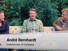 Ruth Lemmen, André Bernhardt und Malte Behrmann informieren über den aktuellen Stand der Games-Förderung (Abbildung: YouTube)
