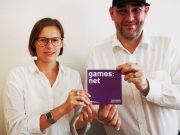 Maria Wagner übergibt die Leitung des Games:Net an Nachfolger Lars Vormann (Foto: Media:Net Berlin-Brandenburg)