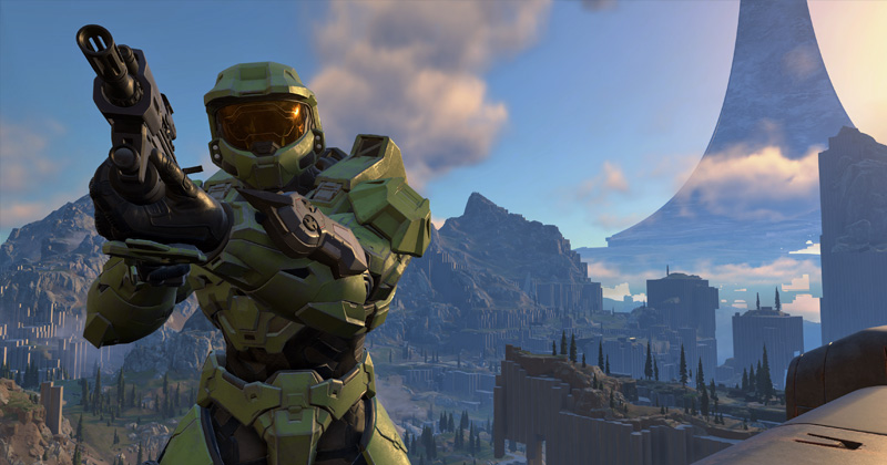"""Stieß nur auf gemischte Reaktionen: Xbox-Series-X-Neuheit """"Halo Infinite"""" (Abbildung: Microsoft)"""