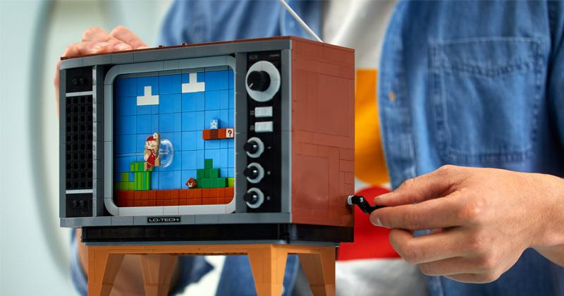 Mit einer kleinen Kurbel lässt sich der Bildschirm-Hintergrund animieren (Abbildung: LEGO)