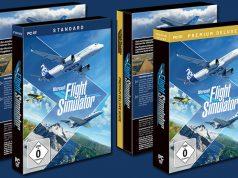 Aerosoft vertreibt die DVD-Version des Microsoft Flight Simulator - wahlweise erhältlich als Standard-Edition oder Premium Deluxe Edition (Abbildung: Aerosoft)