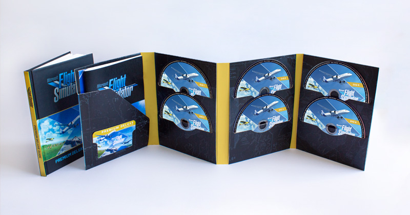 Microsoft Flight Simulator 2020: Aerosoft liefert die DVD-Version inklusive gedrucktem Handbuch aus (Abbildung: Aerosoft)