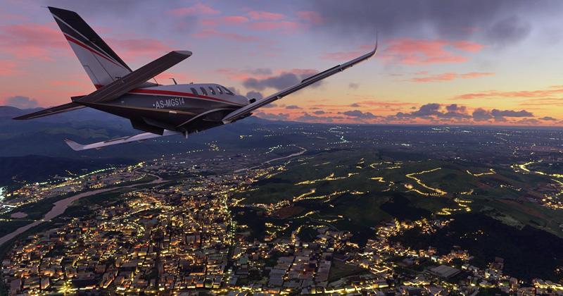 """Besonders spektakulär: """"Flight Simulator""""-Ausflüge bei Morgengrauen und Dämmerung (Abbildung: Microsoft)"""