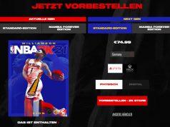 """Vorbesteller der PlayStation-5-Version von """"NBA 2K21"""" überweisen mindestens 75 Euro an Hersteller 2K (Screenshot)"""