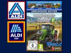 """Bis 31.8. für 9,99 Euro bei ALDI Life zu haben: die """"Landwirtschafts-Simulator 17 Ambassor Edition"""" (Abbildungen: Medion / ALDI)"""