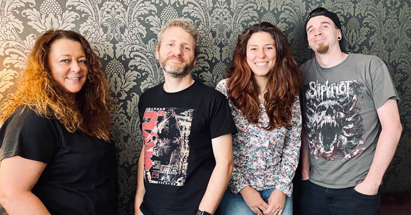 Die vier Neuen bei Assemble Entertainment: Marion Mager, Michele Busiello, Maria Zubova und Lars Racky (Foto: Assemble Entertainment)