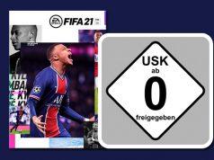 """""""FIFA 21"""" wurde von der USK ohne Altersbeschränkungen freigegeben (Abbildungen: EA / USK)"""