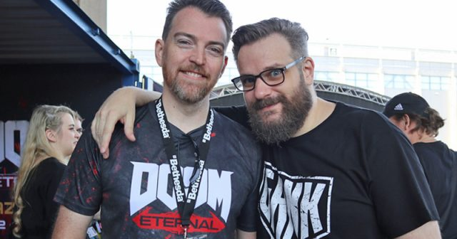 Arbeiten auch bei der Gamescom 2020 zusammen: Bethesda Marketing-Director Marcel Jung und Erik Range alias Gronkh (Foto: GamesWirtschaft)