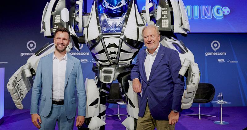 Die Gamescom-Macher: Game-Geschäftsführer Felix Falk und KoelnMesse-Chef Gerald Boese (Foto: KoelnMesse / Oliver Wachenfeld)