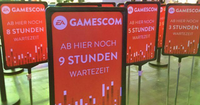Erlebnis Gamescom: Mehrstündige Wartezeiten gehören zur Gamescom-DNA (Foto: GamesWirtschaft)
