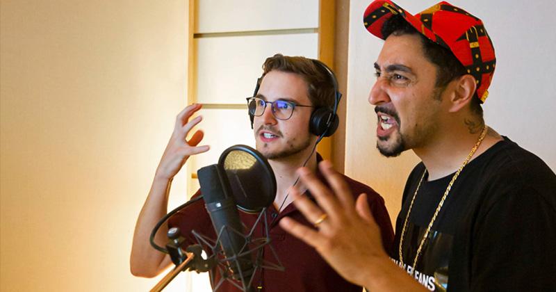 "Sebastian Lenßen (PietSmiet) und Rapper Eko Fresh übernehmen Sprechrollen in ""Outriders"" (Foto: Square Enix)"