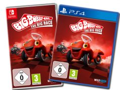 "Erscheint am 24.9.2020 für PlayStation 4, Switch und PC: Rennspiel ""BIG Bobby Car: The Big Race"" (Abbildung: Wild River Games)"