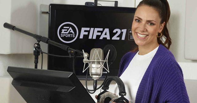 Sky-Moderatorin Esther Sedlaczek ist eine weitere Stimme in FIFA 21 (Foto: EA)
