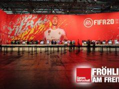 "Ruhe vor dem Sturm: ""FIFA""-Hersteller Electronic Arts gehört zu den größten Gamescom-Ausstellern (Foto: Fröhlich)"
