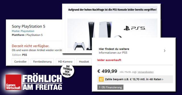 Amazon, Otto, MediaMarkt, Müller: Die PlayStation 5 ist in faktisch allen Online-Shops ausverkauft (Screenshots)