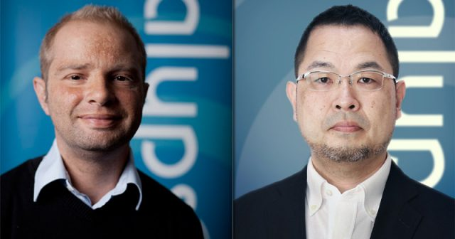 Kalypso-Gründer Simon Hellwig verpflichtet Kazuhiro Ueda mit dem Aufbau von Kalypso Media Japan (Fotos: Kalypso Media)