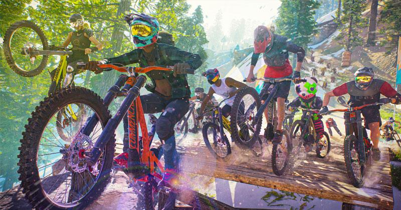 Highlight von Riders Republic: Massenstarts mit bis zu 50 Gegnern (Abbildung: Ubisoft)