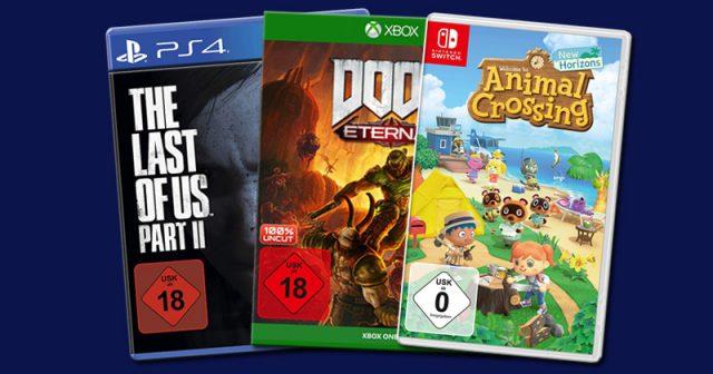 Spiele-Verkaufszahlen 2020: Drei der bislang erfolgreichsten Games im Jahr 2020 (Abbildungen: Sony, Bethesda, Nintendo)