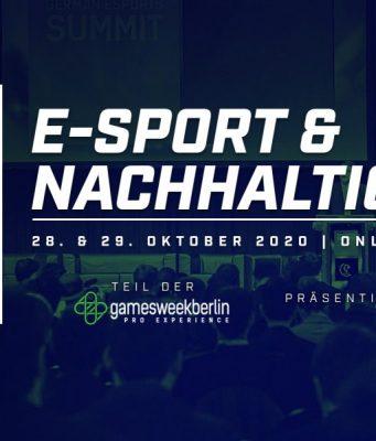 German Esports Summit 2020 am 28. und 29.10. (Abbildung: ESBD)
