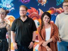 Zayuri, Peter Smits, Joyce Ilg und Varion steckten hinter den Masken beim Crash4 Maskenball (Foto: Activision / Goodby Production)