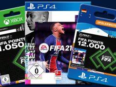 FIFA Points kaufen: Die Guthaben-Karten sind für PS4, Xbox One und PC erhältlich (Abbildungen: EA)
