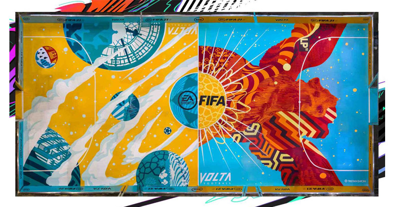 "Streetart-Künstler Tristan Eaton hat den ""FIFA Pitch"" gestaltet (Abbildung: EA)"