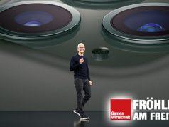 Apple-CEO Tim Cook bei der Vorstellung des iPhone 11 im September 2019 - damals noch vor Publikum (Foto: Apple)