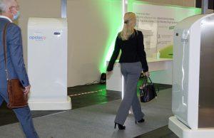 Teil des neuen KoelnMesse-Sicherheitskonzepts: Körperscanner sollen kontaktlos Waffen aufspüren (Foto: KoelnMesse / Harald Fleissner)
