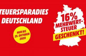 Steuersparadies Deutschland: 16 Prozent Mehrwertsteuer geschenkt bei MediaMarkt (Abbildung: MediaMarktSaturn Holding)