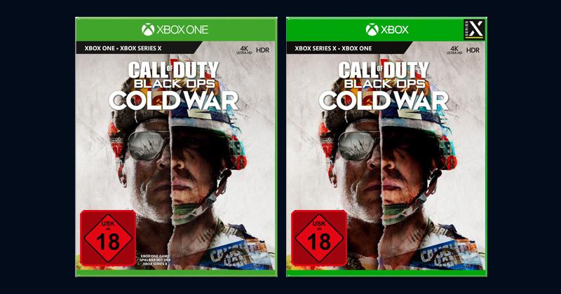 """Kaum zu unterscheiden: Die """"richtige"""" Xbox Series X-Version von Call of Duty: Black Ops Cold War ist mit einem Logo in der rechten oberen Ecke markiert (Abbildungen: Activision)"""