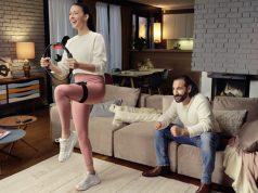 Rebecca Mir und Massimo Sinató werben für Ring Fit Adventure (Foto: Nintendo of Europe)