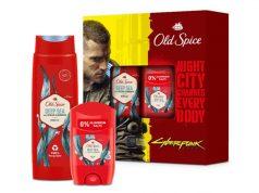 Level up your scent: Das Old Spice-Set im Cyberpunk 2077-Design ist ab sofort erhältlich (Abbildung: Procter & Gamble)