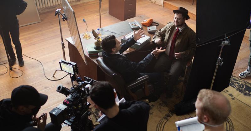 """""""Die Schlussakte Spandau"""": Szene von den Dreharbeiten (Foto: Activision / Robert Menger)"""