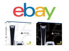 Wer eine PlayStation 5 bei Ebay oder Ebay Kleinanzeigen kaufen möchte, sollte diese Tipps beachten (Abbildungen: Sony Interactive / Ebay Inc.)