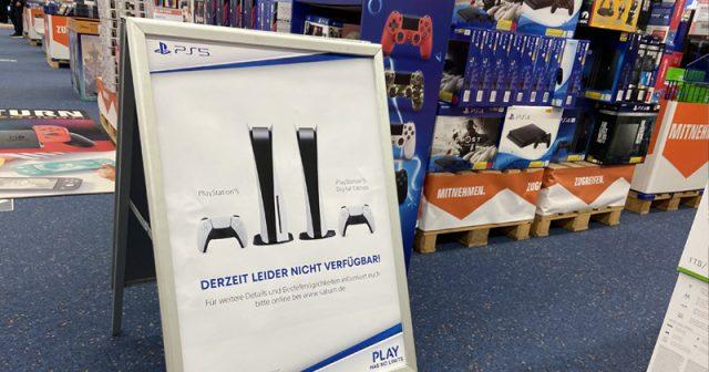 PlayStation 5 ausverkauft: Im Einzelhandel ist die PS5 nicht mehr erhältlich.