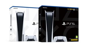 PlayStation 5 (links) und PlayStation 5 Digital Edition (rechts) - Fotos: Sony Interactive