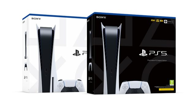 PlayStation 5 (links) und PlayStation 5 Digital Edition (rechts) - Fotos: Sony Interactive